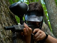 Paintball 100 ammo, equipment included