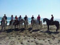 Ruta a caballo a la playa