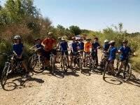 Excursion en btt en el campamento