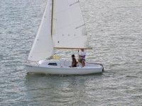 En el barco de vela