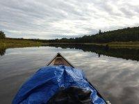 Spectacular landscape on board the canoe