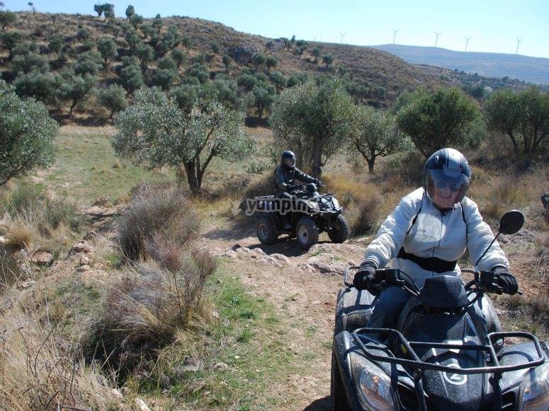 Salida en quad por Tarazona