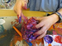 Manualidades con pintura de colores