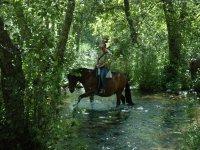 Ruta a caballo por el río