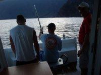 atardecer pescando