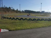 Curve in the karting circuit