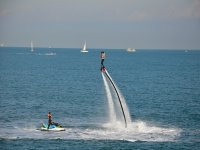 Girl on flyboard