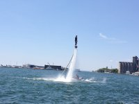 Practicing the new mode of flyboard