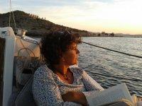 在日落船上读