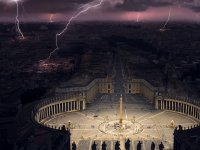 Storm in the St. Peter's Square