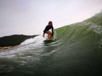 Patri haciendo wakeboard en San Juan