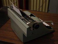 Gray typewriter