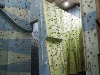 Covered climbing area