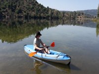 Manejando el kayak
