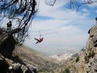 Zip line pack arrampicata e rappel in Cazorla