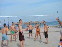 Volleyball match in the sand