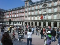 En la Plaza Mayor de Madrid