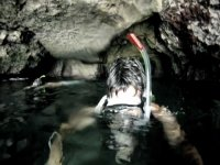 Diving inside the cave cave