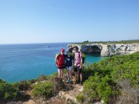 Hiking to the Balearic cave