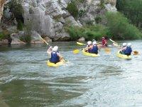 Grupo en kayaks