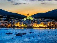 Pueblos de Girona por la noche
