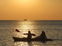 Sunset by kayak on the Costa Brava