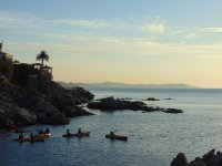 Ruta con la puesta de sol en kayak