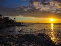 The sun sets on the coast of Girona
