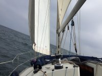 Barco velero girando