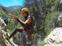 Canyoning on rock
