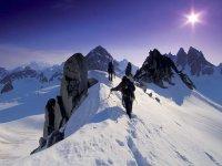 ruta entre los picos
