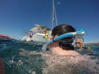 Snorkel desde el barco