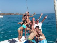 Tripulantes del barco