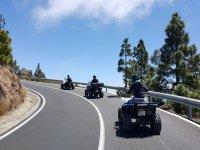 Pilotando los quad en carretera
