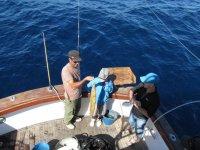 su primera pesca