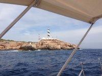 Faro visto desde el barco