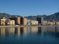 Linea de playa en Fuengirola