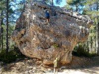 Subiendo por la roca en Cuenca
