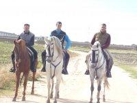 grupos de amigos a caballo