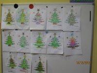 Asi dibujaron los arbolitos de navidad