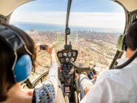 Helicopter tour of Barcelona