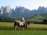 Horseback riding in the Natural Park of Montserrat