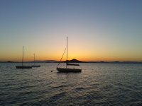 Sailing on the beach