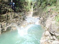 Jumps in canyoning