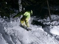 Snowboard por la noche