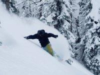Snowboarding course