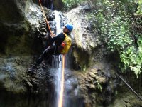 Rappelling from above