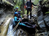 Rappelling the interior of the ravine