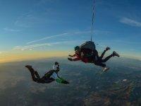 Parachuting with external camera