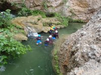 Group in a water ravine